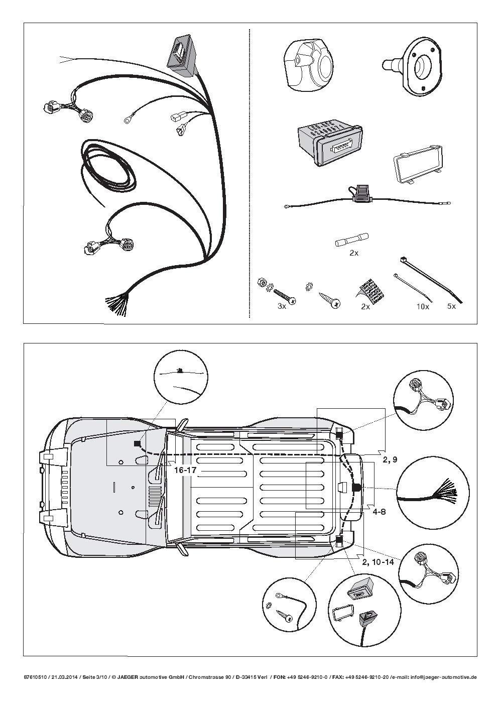 Elektrosatz für Anhängerkupplung