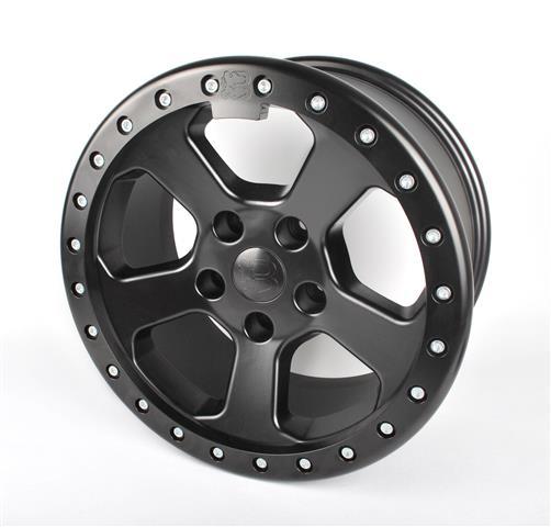 Leichtmetallrad Bawarrion Bon'Z Beadlock 8,5x17 ET10, schwarz matt mit Beadlockring in schwarz matt