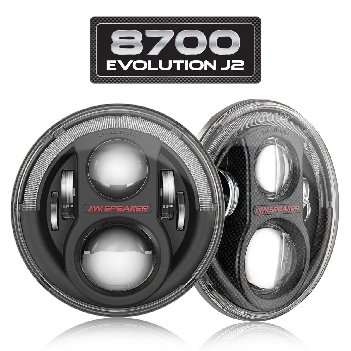 LED Hauptscheinwerfer J.W. Speaker 8700 Evolution J2, Jeep Set