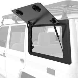 Front Runner Aluminium Gullwing Fenster (linke Seite) für den Toyota Land Cruiser 70